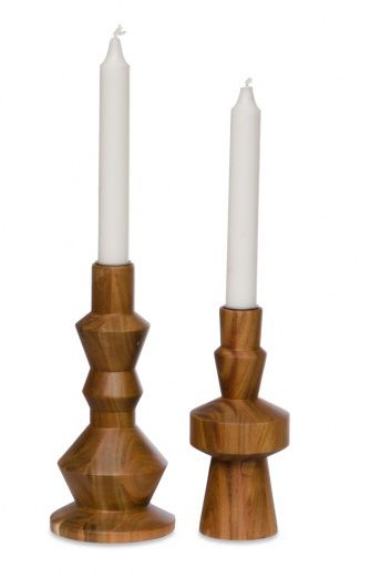 a wooden candlestick. It's just something good to make