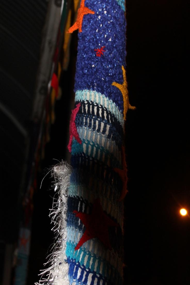 Yarn Bombing in Devonport, New Zealand