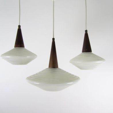 set van 3 jaren 50 lampen
