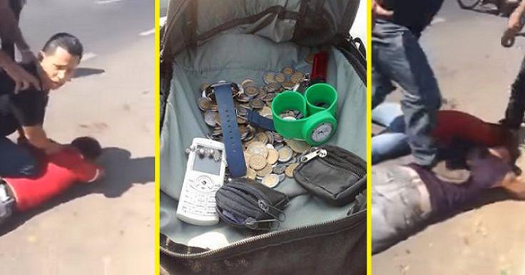 Este par de asaltantes que se dedicaban a robar a los pasajeros de los camiones que transitaban por la autopista México-Puebla, fueron sometidos y golpeados brutalmente por los pasajeros de una combi que cubría la ruta Metr