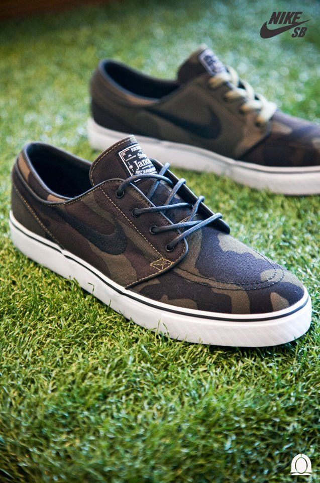 Nike SB Janoski camo-- these remind me of my man... I guess there pretty cute(: