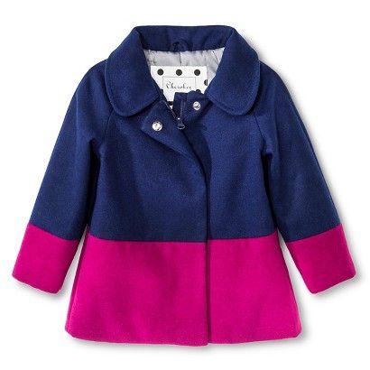 Toddler Girls' Peacoat Navy & Pink - Cherokee®
