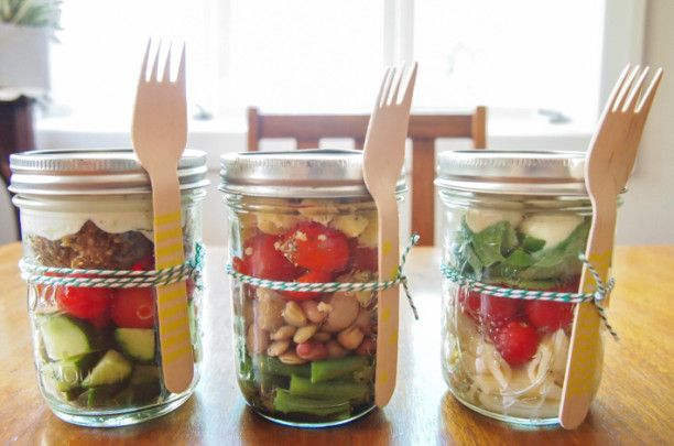 3 MASON JAR SALADS - The Spring