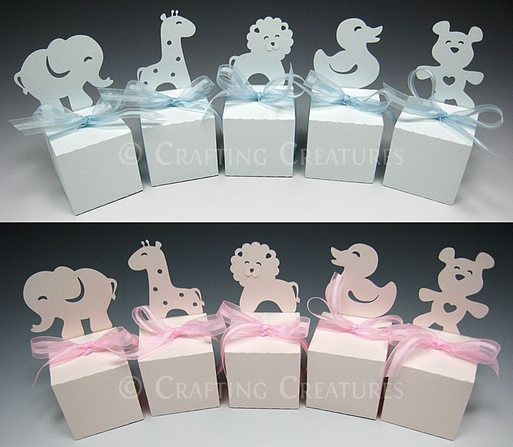 Party animal favor boxes made with custom designed pattern and digital die cutter.