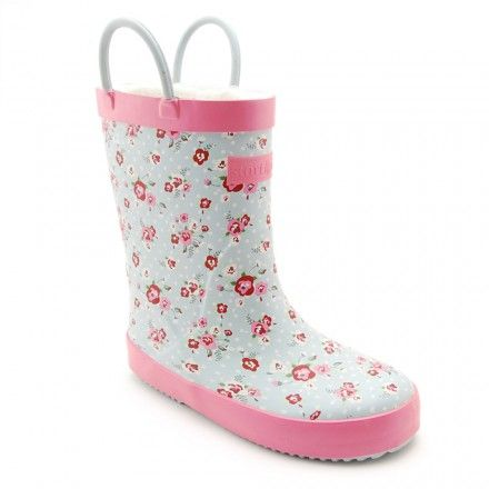 Blossom, Blue Girls Water Resistant Wellies - Girls Boots - Girls Shoes http://www.startriteshoes.com/girls-shoes/boots/blossom-blue-girls-water-resistant-wellies