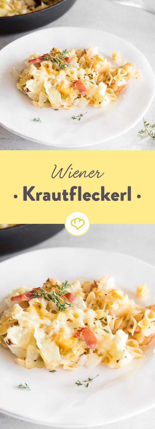 Mit dieser Wiener Spezialität aus böhmischen Nudeln und Weißkohl tischst du richtig dick auf! Bergkäse verleiht dem Klassiker eine extra Portion Würze.