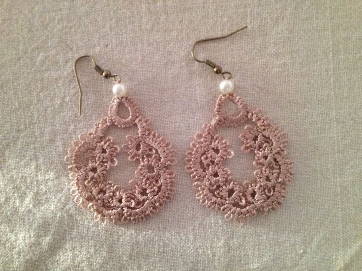 Tatted earrings by BurgdorffDesign on Etsy https://www.etsy.com/listing/249584654/tatted-earrings