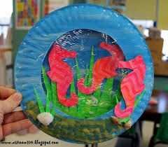 seahorse art for kids - Google Search
