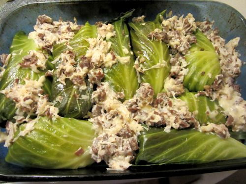 Reuben Cabbage Rolls  (serves 4)  Great for St.Pats!