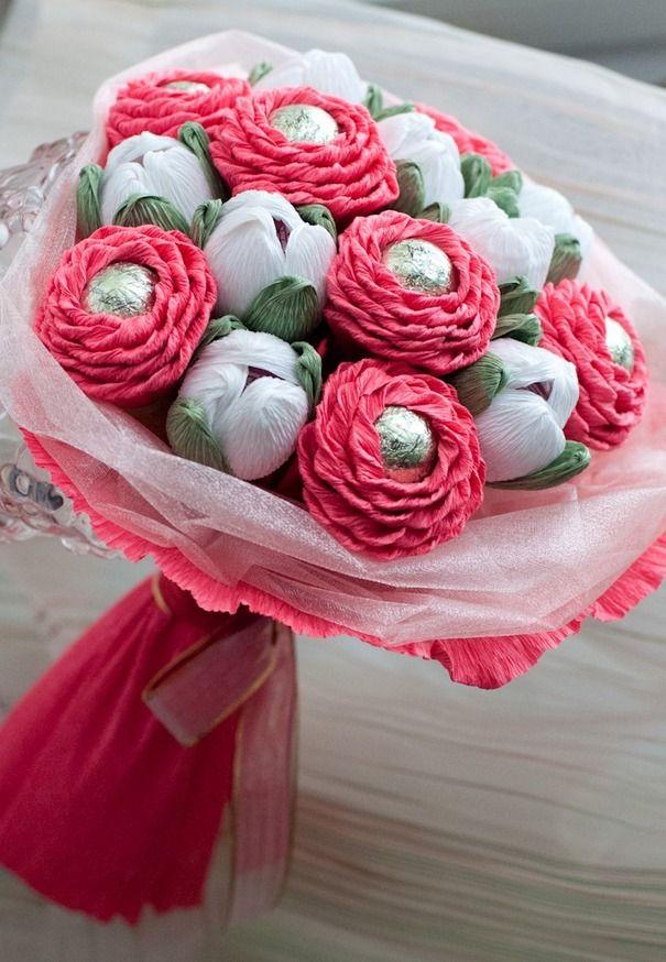 229Букет на свадьбу из конфет своими руками