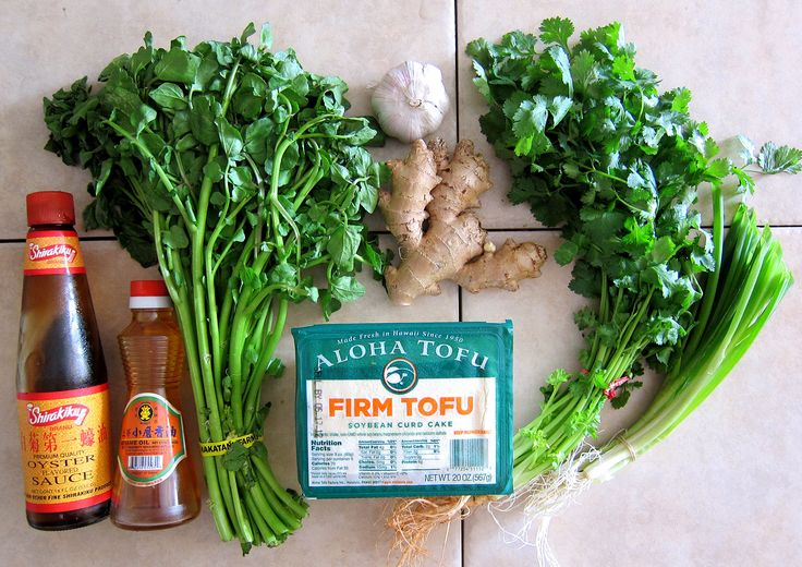 """This onolicious Tofu Watercress Salad recipe comes from my mother's good friend's late mother, lovingly known as """"Po Po"""", a name or title of one of several Chinese variants for """"grandmother"""". It's a very simple dish to make, made up…"""