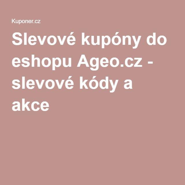 Slevové kupóny do eshopu Ageo.cz - slevové kódy a akce