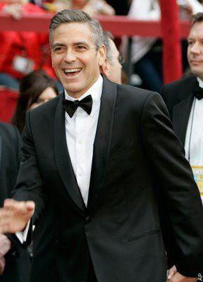 Wear a tuxedo like george clooney black single button for Tuxedo shirt no studs