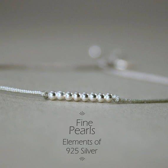 Minimalistischer Schmuck ist der Trend 2017 - Feines Armband mit 925 Sterling Silber in Grau Silber