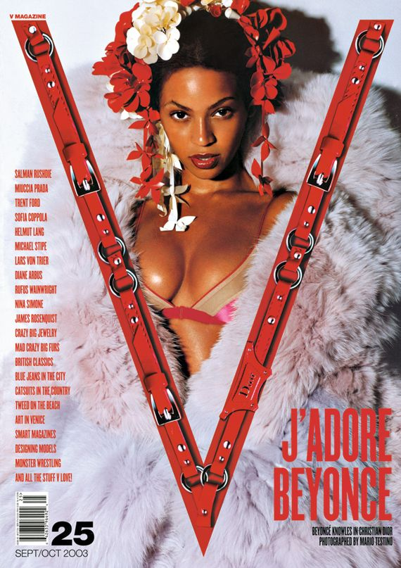 Remember Beyonce's first V cover by Mario Testino for V25, Fall 2003