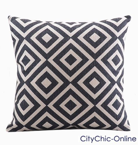 45cm-X-45cm-GDS-Vintage-Retro-Geometric-Linen-Cushion-Cover
