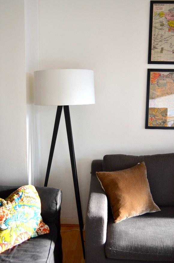 New lamp and velvet cushions from @Argos