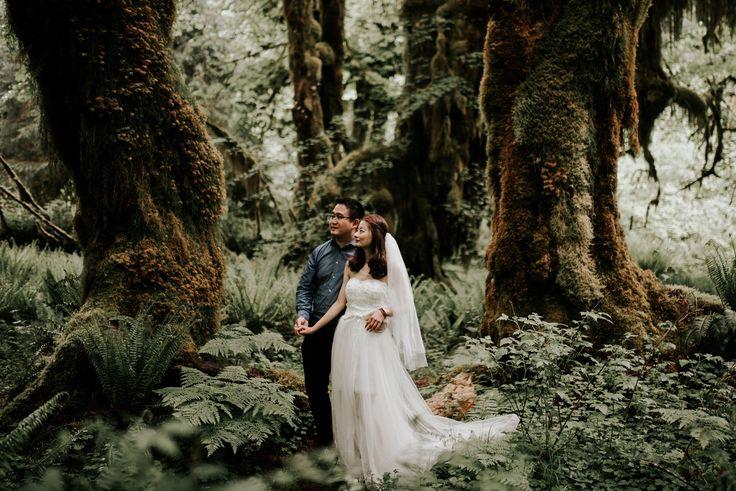 Hoh Rainforest Bridals in Olympic National Park | Kristen Kaiser | Illinois Elopement + Wedding Photography | Available for travel | kristenkaiser.com