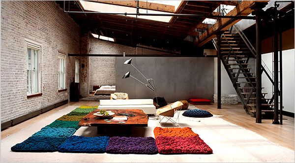 Design Notebook - In SoHo, Large-Scale Felted Wool for a Loft - NYTimes.com