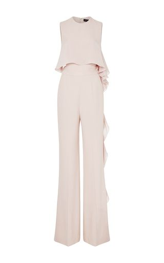 Crepe Cady And Floating Double Georgette Jumpsuit by ELIE SAAB for Preorder on Moda Operandi