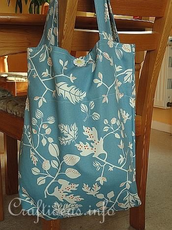 Summer Sewing Project - Easy Shopping Bag or School Bag