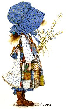 """Holly Hobbie - """"start each day in a happy way"""" - that's what I woke up to on my Holly Hobbie clock each morning!"""