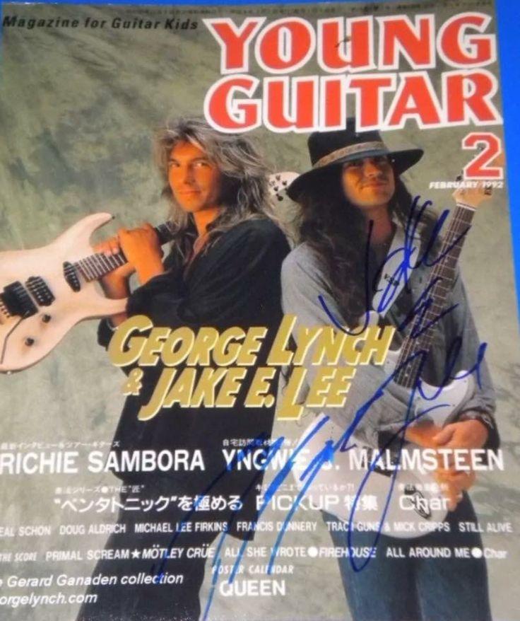George Lynch & Jake E Lee on the cover of Young Guitar Magazine Japan .... guitar guitars guitarist guitarras guitarra guitar hero god gods legend legends players players esp charvel Dokken ozzy Osborne badlands gitar guitare gitarren gitarre