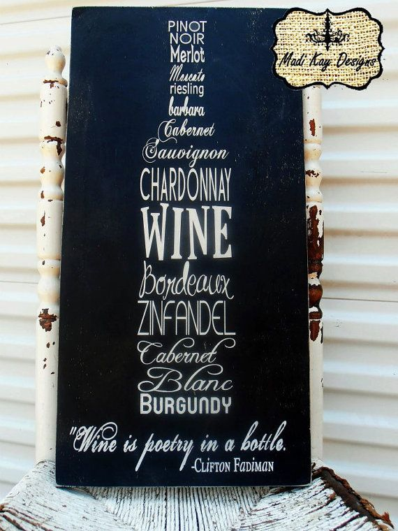 Personalized Wine Sign on Wood or Canvas,  wine Sign, Bar Sign, Wine Cellar, Wine Bottle,  Wedding Gift, Grooms Gift on Etsy, $59.99