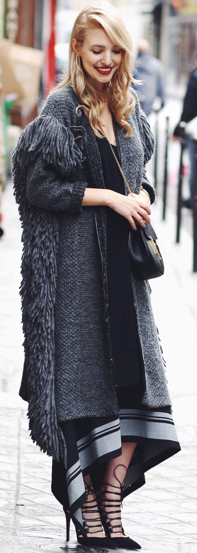 Ooh Couture Chunky Knit Maxi Skirt Fall Inspo #Fashionistas