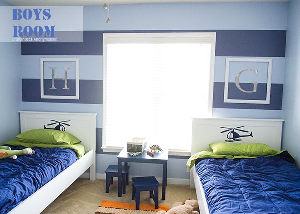 Boy room makeover! And a chance to win a $100 Sherwin-Williams gift card. http://www.craftaholicsanonymous.net/boys-room-makeover-reveal