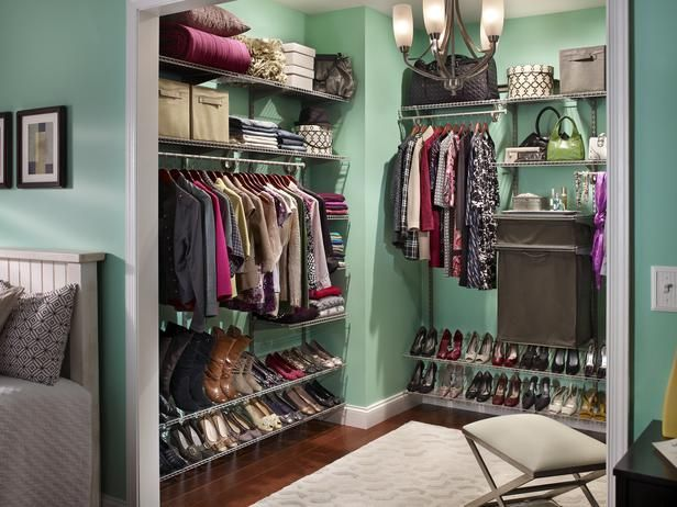 A cheery coat of paint can add a lot to a closet.