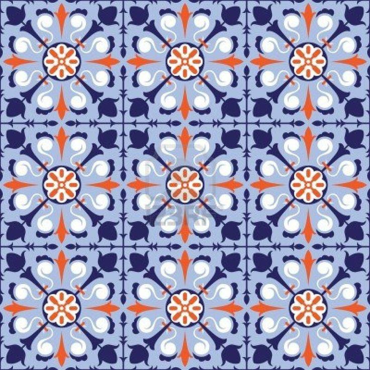 13485927-colorful-arabic-style-tiles-seamless-pattern.jpg (1200×1200)