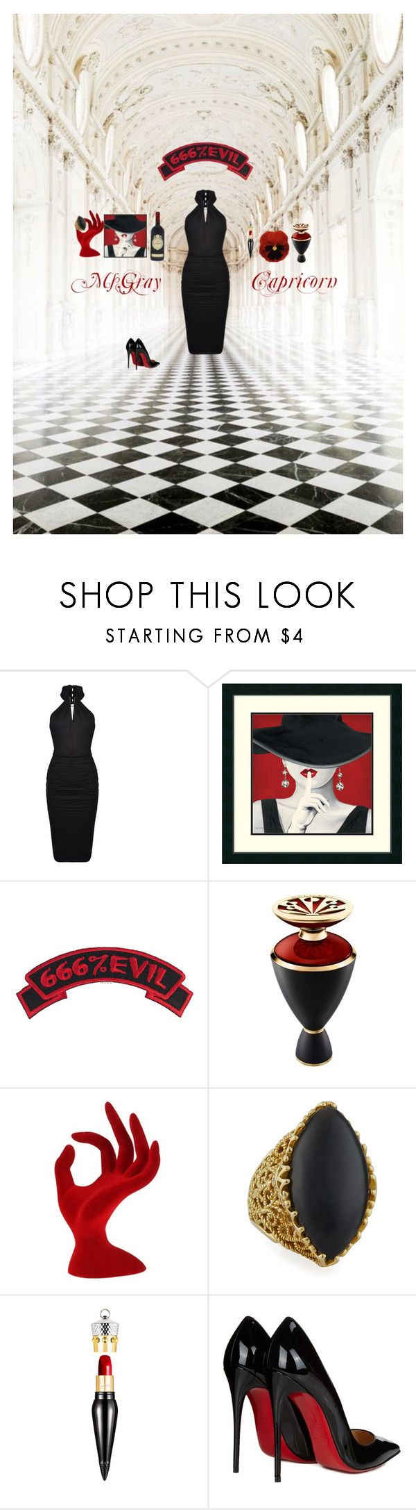 """capricorn"" by fmsgray ❤ liked on Polyvore featuring Oxford, Plein Sud, Bulgari, Cynthia Bach and Christian Louboutin"