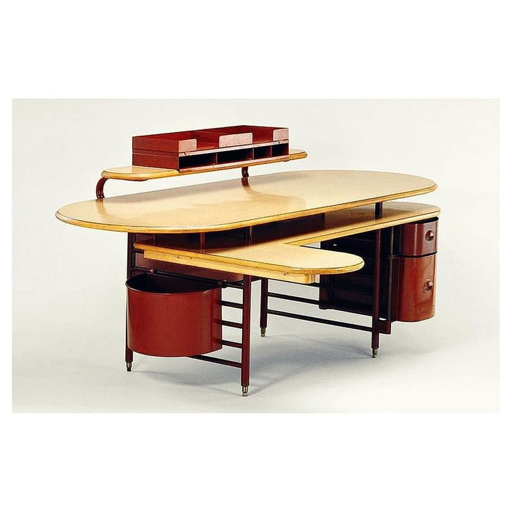 Desk For The Johnson Wax Company Headquarters Frank Lloyd Wright, Racine,  Wisconsin. Manufactured By Steelcase. Painted Steel Tubing And Sheet Steel  And ...