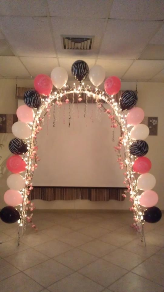 316 best images about sweet sixteen decorations on for Balloon decoration ideas for sweet 16