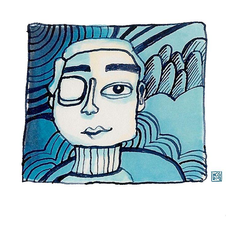 'Badman' Illustratie met markers and inkt by Hilda groenesteyn / studio Hille