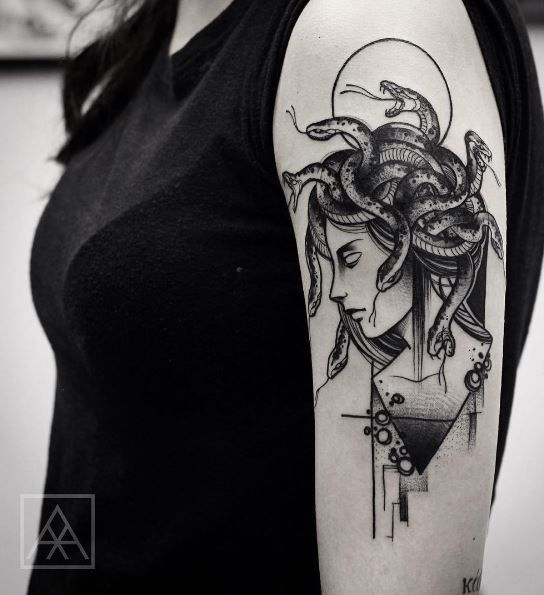 Best Black And Gray Tattoos Images On Pinterest Ideas - Mythical creatures are brought to life in these stunning black ink tattoos