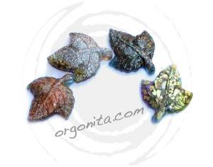 Hojas de Orgonita - set 4 piezas - ORGON: ORGONITE personalizado - ORGONITA personalizada - Orgonites - Orgonitas