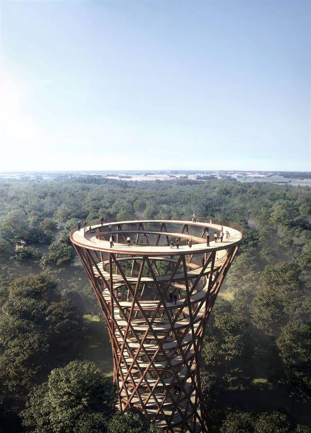 コペンハーゲンを拠点とする建築事務所・EFFEKTが、高さ600mにもなる遊歩道のコンセプトデザインを発表しました。樹木で作られた螺旋階段を登れば、雄大な森林を一望できる景色があなたを待っています。