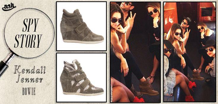 L'attrice e modella #KendallJenner indossa le #sneakers con zeppa di #Ash Bowie!