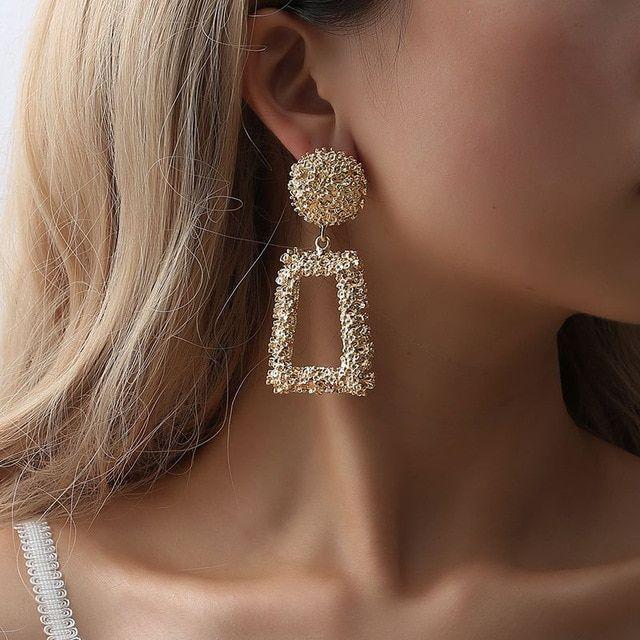 Unique earrings Dangle earrings Statement earrings Geometrical earrings Circle earrings Cute earrings Chandelier earrings Brown earrings