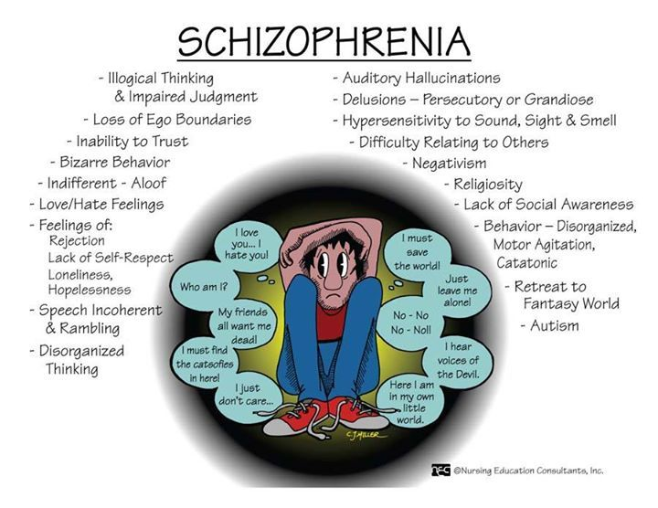 the traits and diagnosis of schizophrenia To examine some of the general characteristics of this disorder in the most general sense, schizophrenia is a disorder of thought, and, indeed, one of the prototypical symptoms of schizophrenia is the presence of delusions, which are beliefs that are significantly different from consensus reality so, for example, schizophrenics may believe.