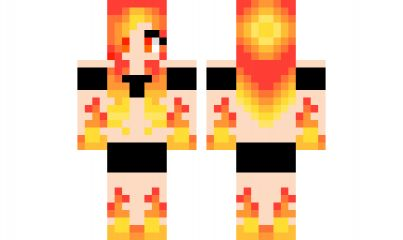 minecraft skin Flame-Goddess Find it with our new Android Minecraft Skins App: https://play.google.com/store/apps/details?id=the.gecko.girlskins