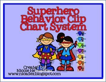 Superhero Behavior Clip Chart System- FREE!