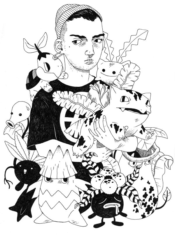 Fantasy and Intriguing Characters in Illustrations by Eero Lampinen | Ape on the Moon: Contemporary Illustration