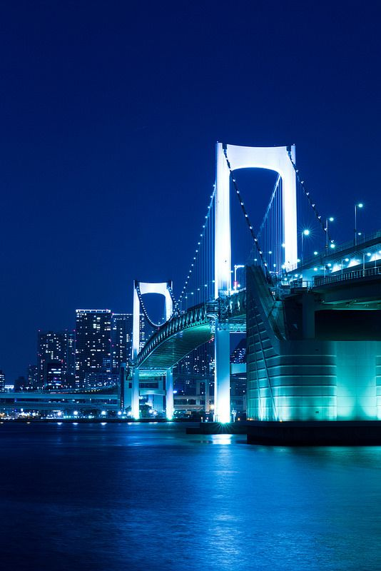 Rainbow Bridge, Tokyo I have a fascination with bridges!