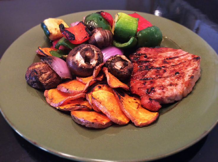 Pork Chops and grilled veggies!