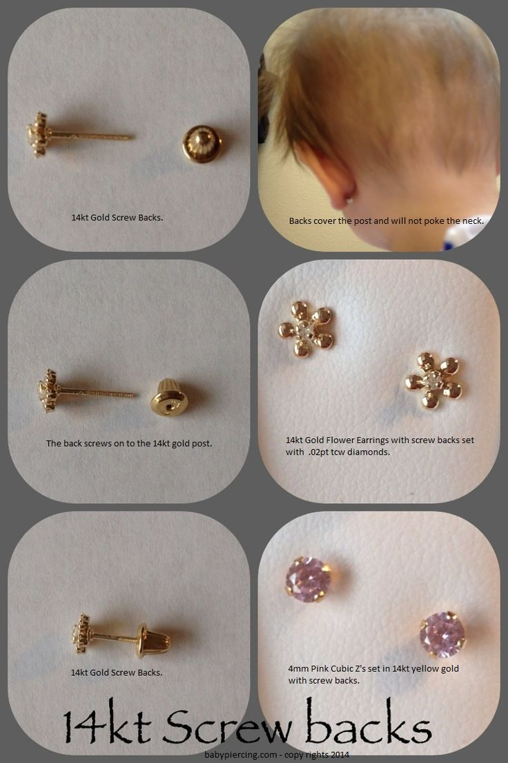 Find This Pin And More On Screw Back Earrings For Babies, Toddlers And  Childrens