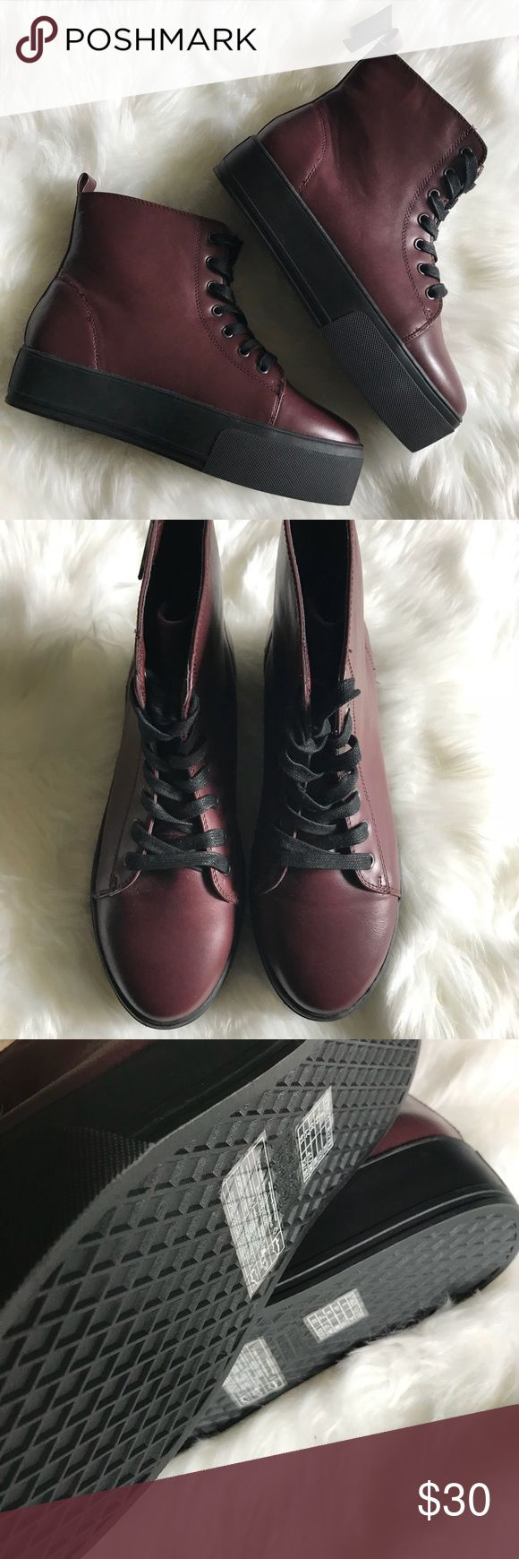 Platform snaeakers Add a little edge to your outfit with these burgundy platform sneakers. Forever 21 Shoes Sneakers