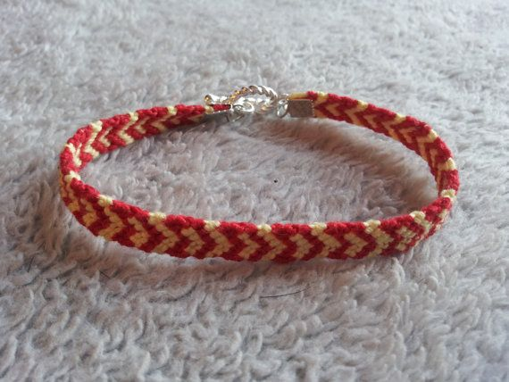 Handmade string bracelet with toggle clasp by ACreativeEscape, $8.00